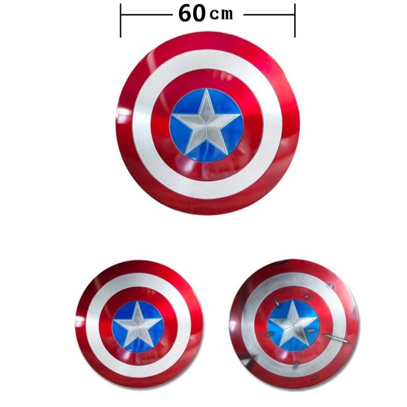 キャプテンアメリカコスプレメタルシールドコスプレギフトハロウィン小道具アルミ合金直径 60cm1: 1 完璧なバージョンスティーブ · ロジャース  グループ上の ノベルティ & 特殊用途 からの 衣装小道具 の中 2