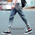 Men Jean New 2017 Slim Skinny Denim Biker Pant Boyfriend Hip hop Trousers Bule Color Fashion Brand Jeans For Male E035