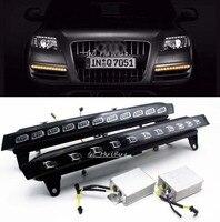 Dla 2007-2010 Audi Q7 22-LED Bezpośrednie Fit 22-LED Światła Do Jazdy Dziennej w/żółtym migotania Turn Signal