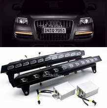 For 2007-2010 Audi Q7 22-LED Direct Fit  22-LED Daytime Running Lights w/ yellow flicker  Turn Signal