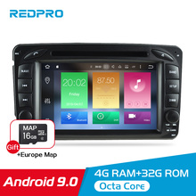 7 Android 9.0 Car Multimedia Player For Mercedes Benz Clk/w209/w203/w208/w463 1998-2004 Stereo DVD Radio Video GPS Navigation