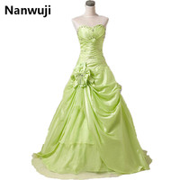 In Stock Price under 50 Sweetheart ball gown wedding party dress In stock lime green cheap quinceanera dresses size 2 16