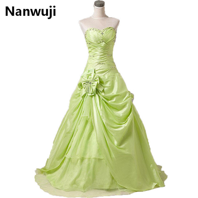 8739973290a In Stock Price under 50 Sweetheart ball gown wedding party dress In stock  lime green cheap quinceanera dresses size 2-16