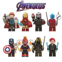Legoed Avengers 4 Endgame Minifigured Thor Iron Man Marvel Super Heroes Playmobil Building Blocks Figures Children Gift Toys