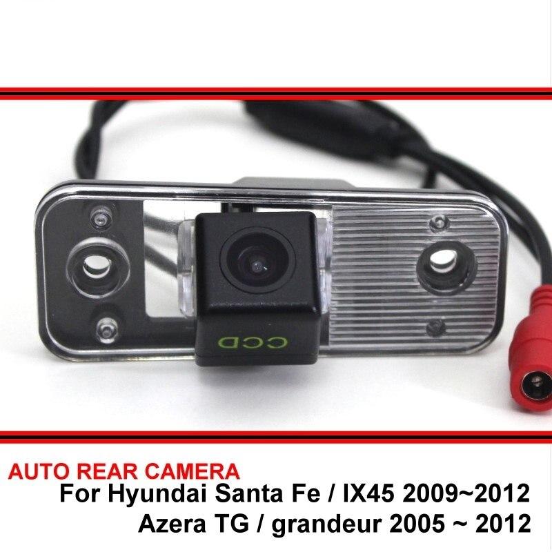 Para Hyundai Azera TG Grandeur Santa Fe IX45 06 ~ 12 coche impermeable visión nocturna trasera vista trasera marcha atrás cámara de aparcamiento de respaldo