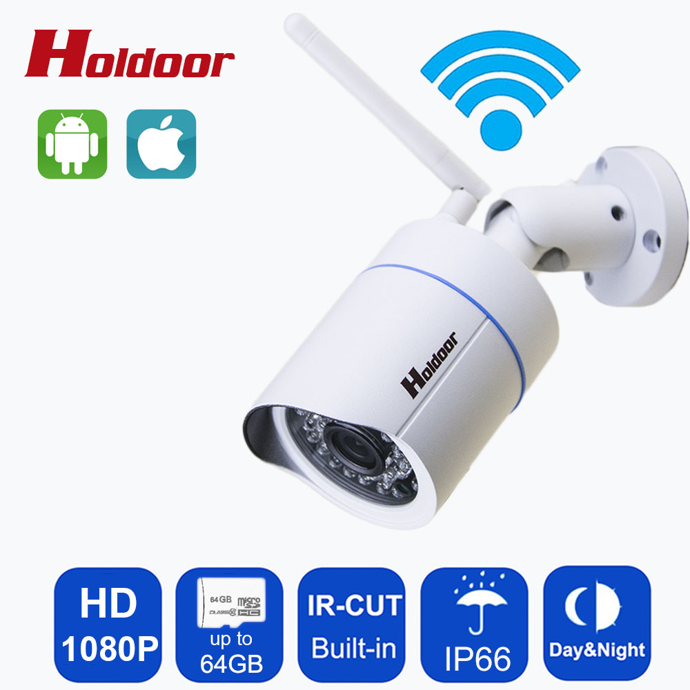 WIFI IP Camera 2MP full HD 1080P Network Infrared Bullet onvif Outdoor Waterproof wireless CCTV camera With Micro SD card slot escam qd900 wifi ip camera 2mp full hd 1080p network infrared bullet ip66 onvif outdoor waterproof wireless cctv camera