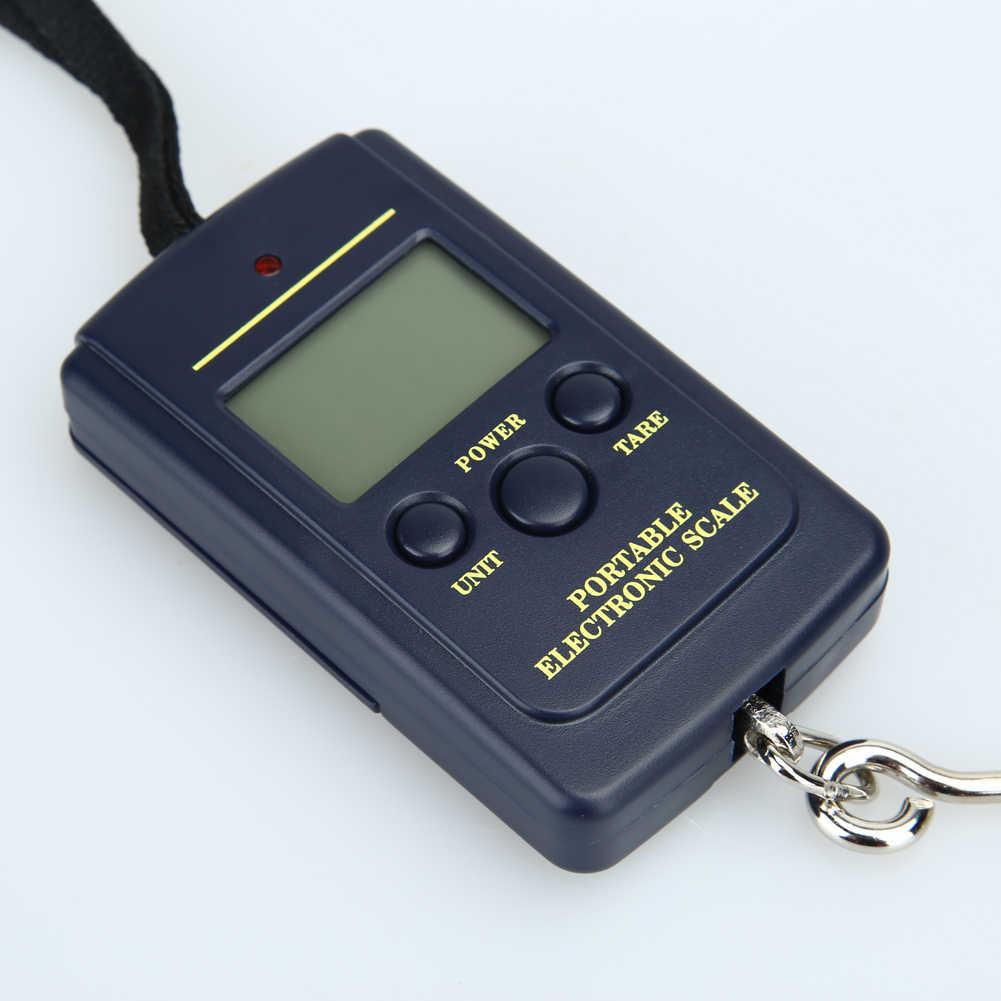 Портативный 40 кг x г 10 г Мини цифровые весы для рыбалка чемодан путешествия взвешивания карман удобный безмен висит электронный крюк весы