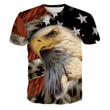 Newest Harajuku Tee Shirt USA America Flag Eagle Prints tshirts Men Women Hipster 3D t shirt Hip Hop Tops