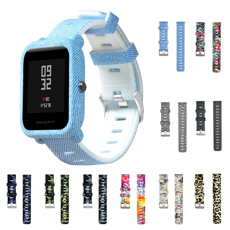 Adjustable Soft Silicone Watchband Wrist Strap Replacement For Xiaomi Huami Amazfit Bip Smartwatch Bracelet 20MM Accessories