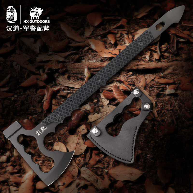 HX OUTDOORS Rescue Multifunctional Ax Camp Artillery Fire Rescue Axe Hammer outdoor multifunction camping tools axe aluminum folding tomahawk axe fire fighting rescue survival hatchet