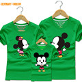 1Pc 2016New Family Matching Outfits Summer T-shirt Clothes Family Look Cotton Minnie T-shirt 20Color Mother Father Kids  QZ024