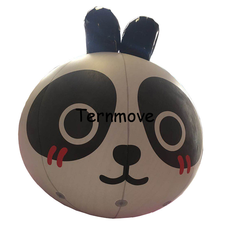 giant inflatable panda Cartoon balloon PVC advertising Promotion Helium Balloone's floating custom large ground balloon ao058b 2m white pvc helium balioon inflatable sphere sky balloon for sale attractive inflatable funny helium printing air ball