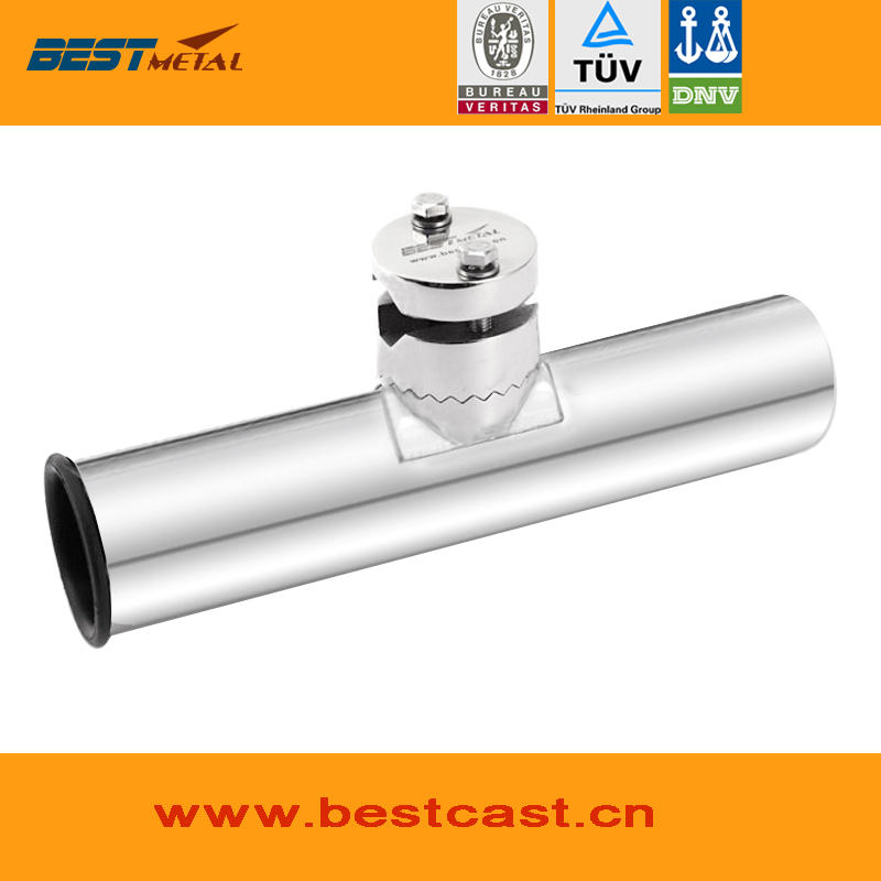 360 Degree Adjustable Removable Rail Mount stainless steel 316 fishing rod holders with clamp on rail 3/4