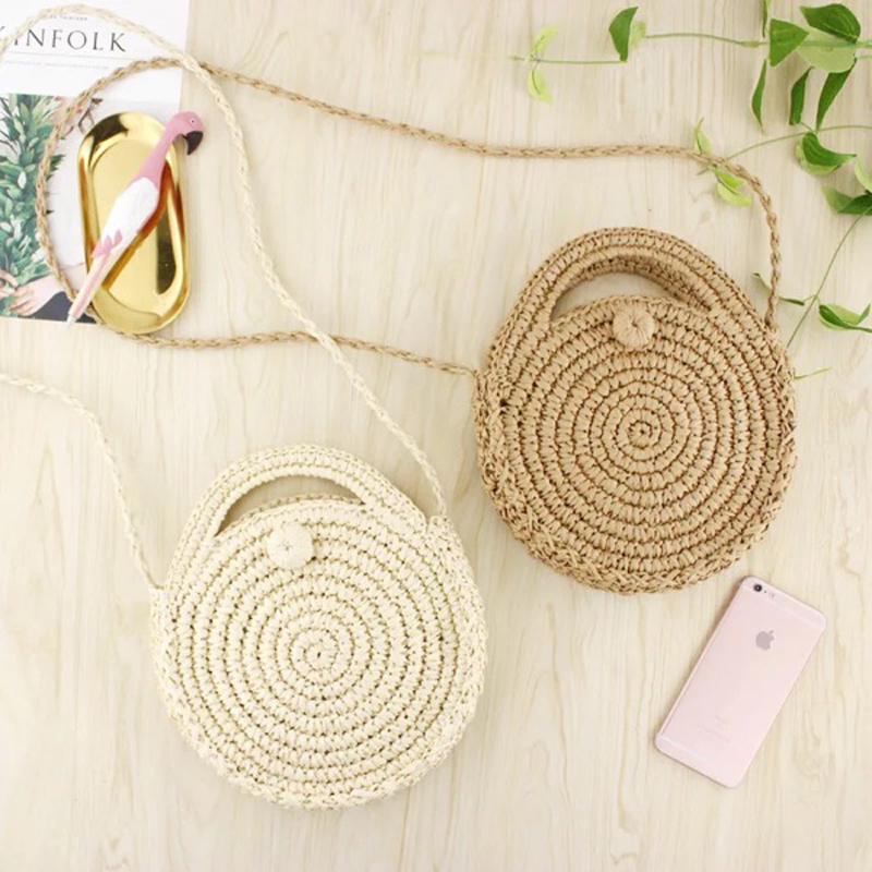 2018 Brand Women Beach Straw Bags Summer mini Vintage Handmade Crossbody Shoulder Bags Female New Purses Handbags Ladies Totes
