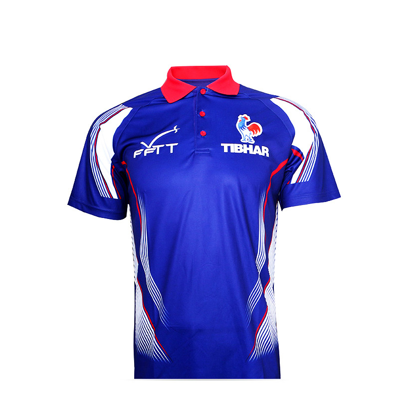 TIBHAR Table-Tennis-Jerseys France T-Shirts Ping-Pong for Men Women Training National title=