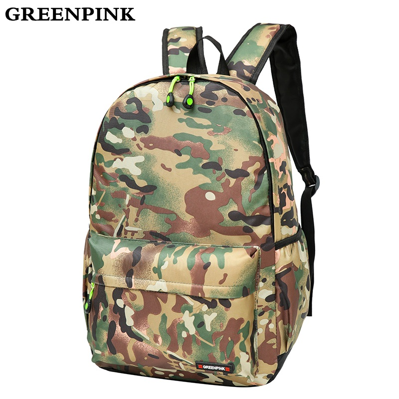 GREENPINK Nylon Backpack Women Fashion Printing School Bags for Teenagers Girls Backpacks Unisex Travel Bag Men Laptop Backpack 2017 new men women laptop backpack mochila masculina high quality nylon men s backpacks backpack for teenagers men s travel bags