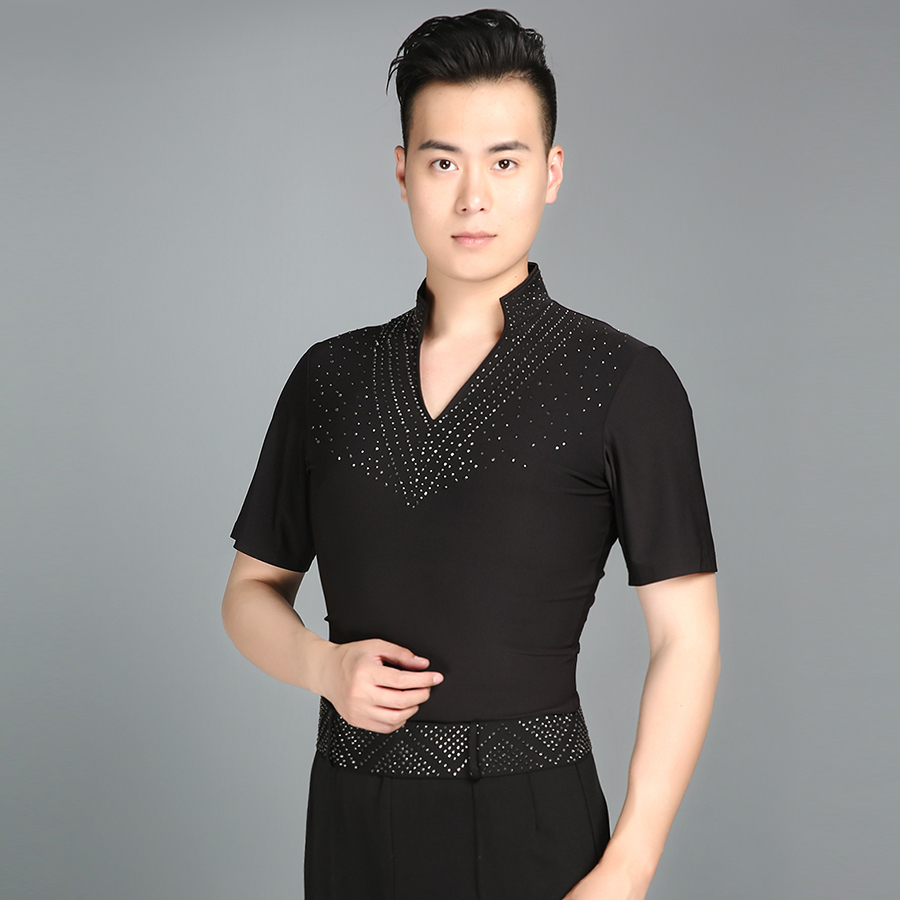 New Ballroom Latin Shirt Latin Dance Shirts Men Dance Top