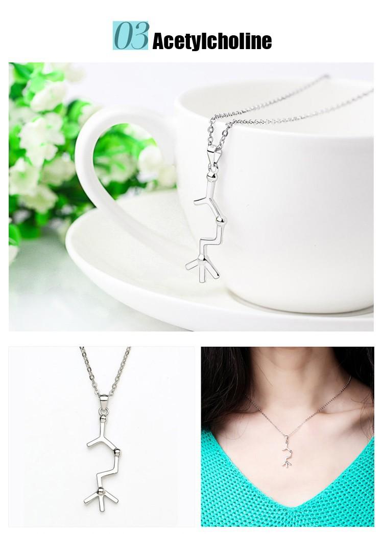 HTB1ULraGFXXXXXpXFXXq6xXFXXXk - Molecular necklace chemical formula geek necklace science students PTC 298