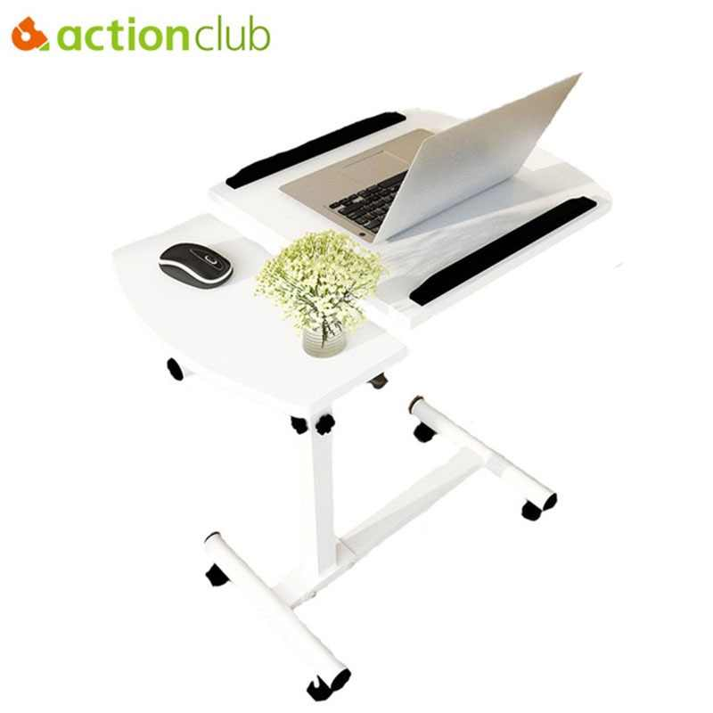 Actionclub Fashion Modern Elevator Computer Desk Lifting Mobile Adjustable Laptop Table With Wheels Simple Studying Desk