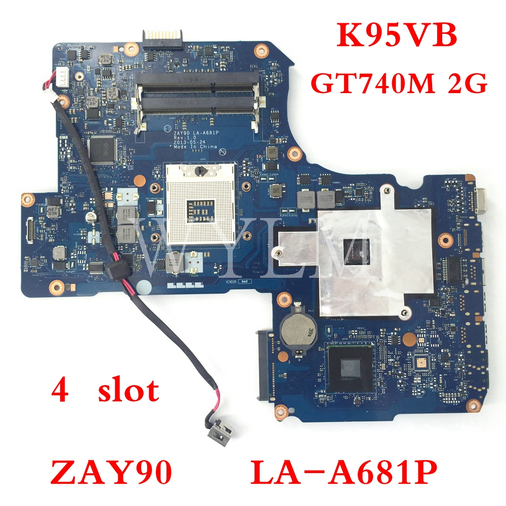 For Asus K95VM R900V K95V A95V K95VB Motherboard ZAY90 LA-A681P Mainboard GT740M