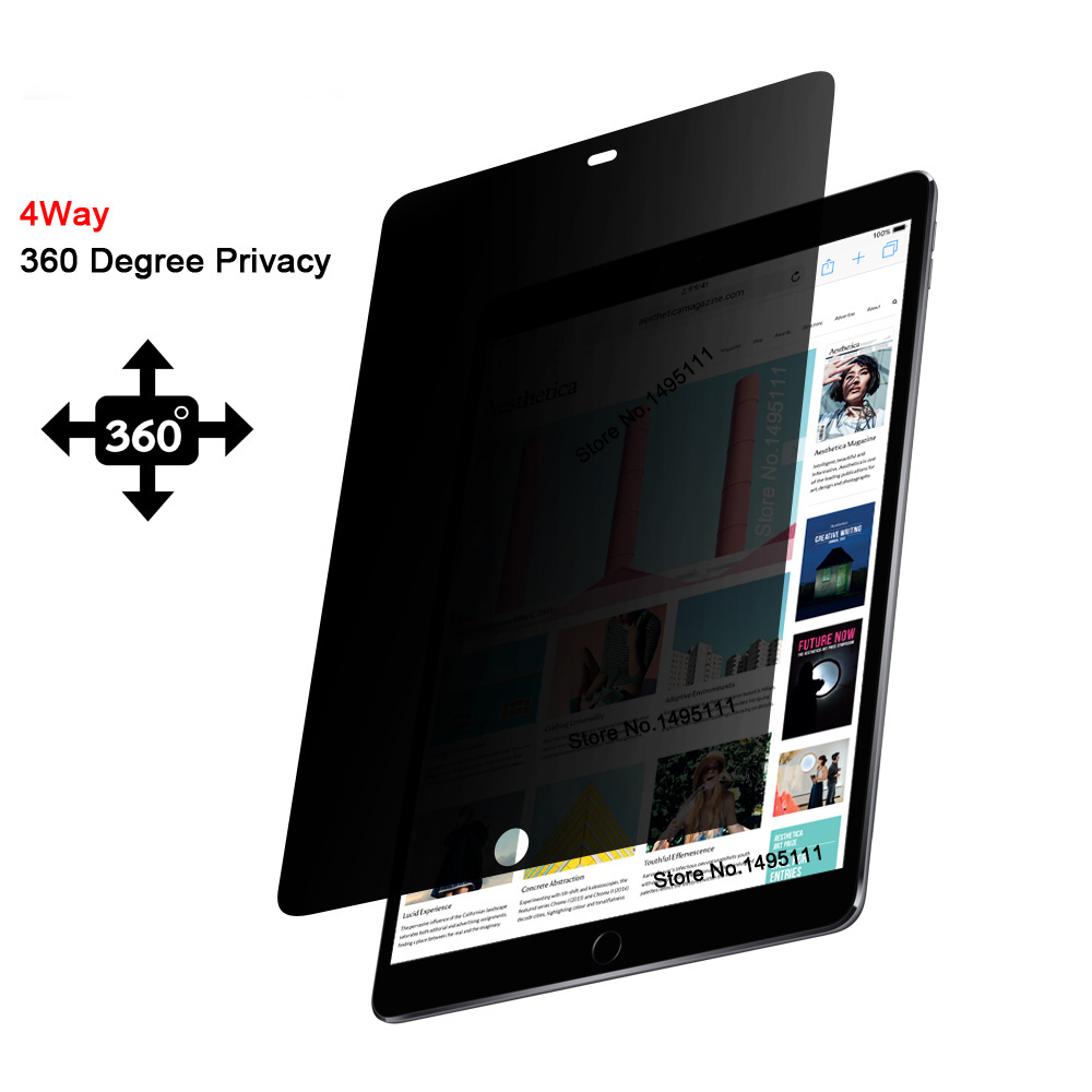 купить PET 360 degree Privacy Filter For iPad Pro 10.5 inch, Anti-glare Screen protector Protective film по цене 1463.99 рублей