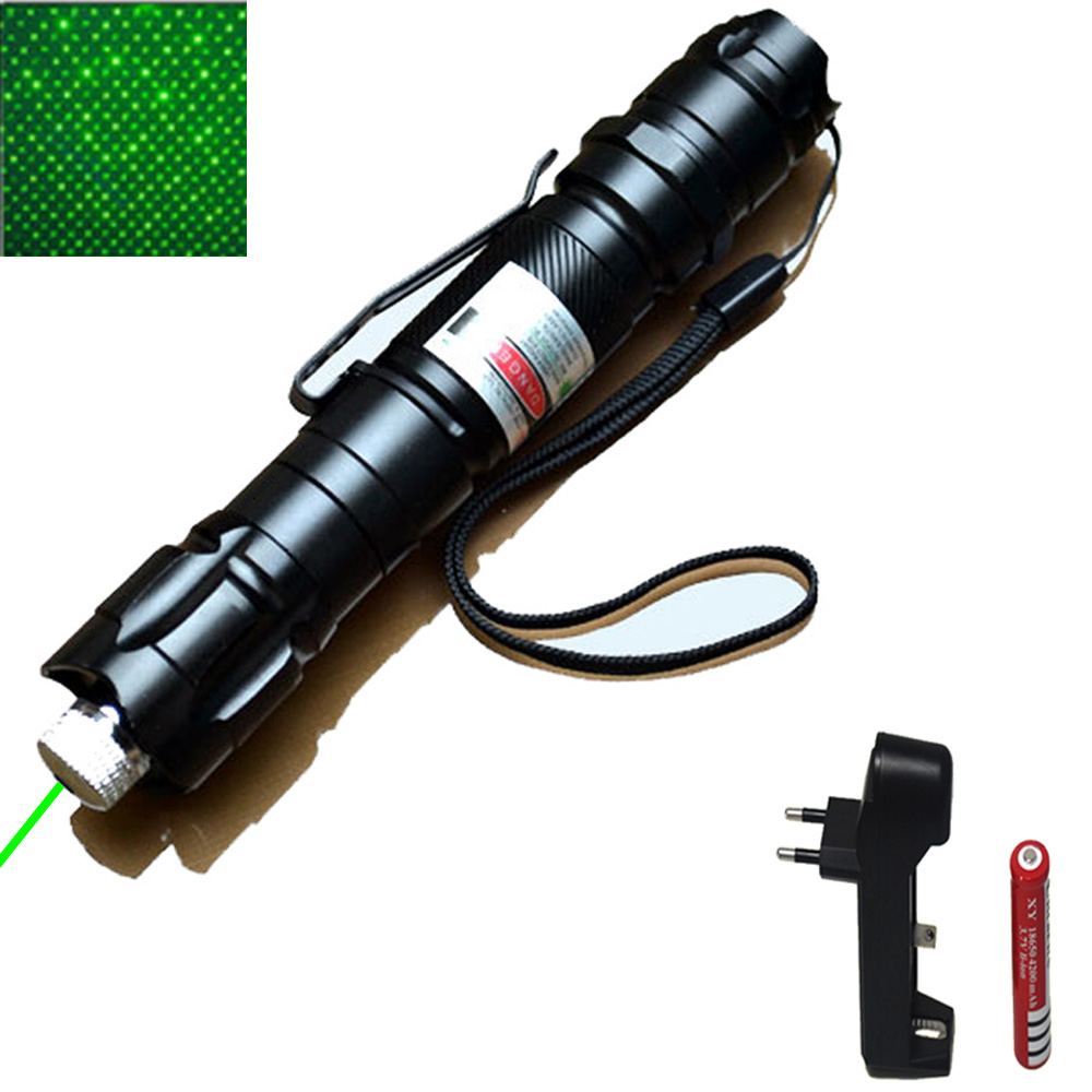 цена на High Power green Laser 303 Pointer 10000m 5mW Hang-type Outdoor Long Distance Laser Sight Powerful Starry Head Burning Match