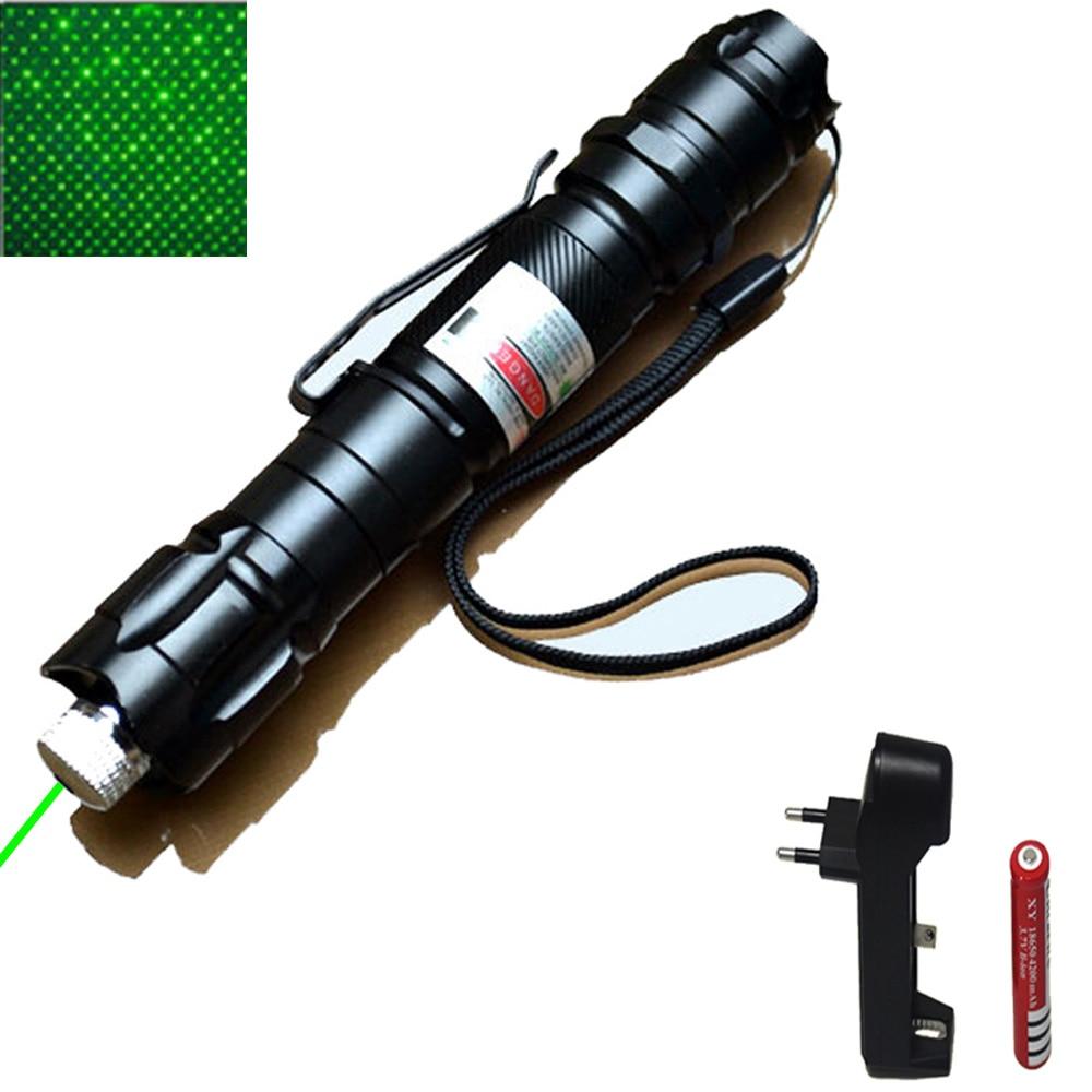 High Power green Laser Pointer 10000m 5mW Green Hang-type Outdoor Long Distance Laser Sight Powerful Starry Head Burning Match