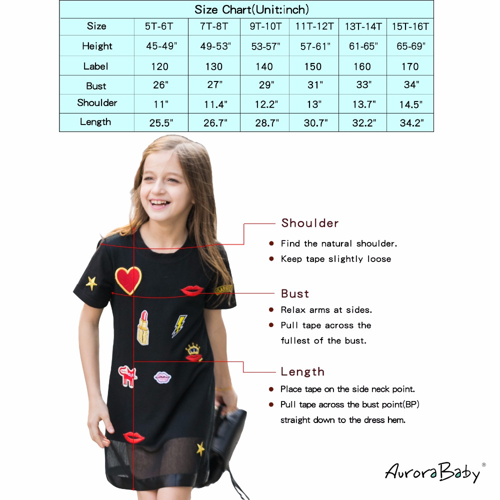 Kids Dresses for Girl Summer Little Girls Dresses Black Appliques Clothing for Girls 6 7 8 9 10 11 12 13 14 Years Old Clothes