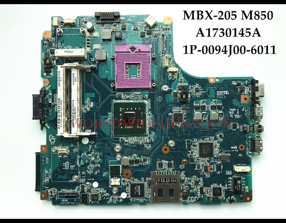 High quality MBX-205 M850 for SONY VGN-NW series Laptop Motherboard A1730145A 1P-0094J00-6011 GM45 PGA478 DDR2 100% Fully Tested high quality desktop motherboard for 580