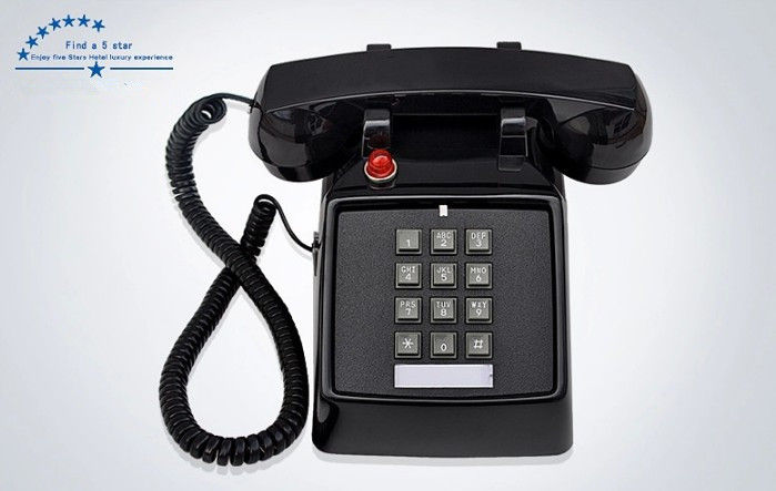 2017 Black Retro Push On Corded Desk Phone Vintage Look New Wall Cordless Home Telephone In Telephones From Computer Office