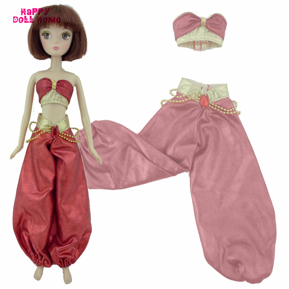 """Exotic India Princess Outfit For Jasmine Tops Pants Fairy Tale Costume For Kurhn 11"""" 11.5"""" Doll Clothes Dollhouse Kid Toys Gift"""