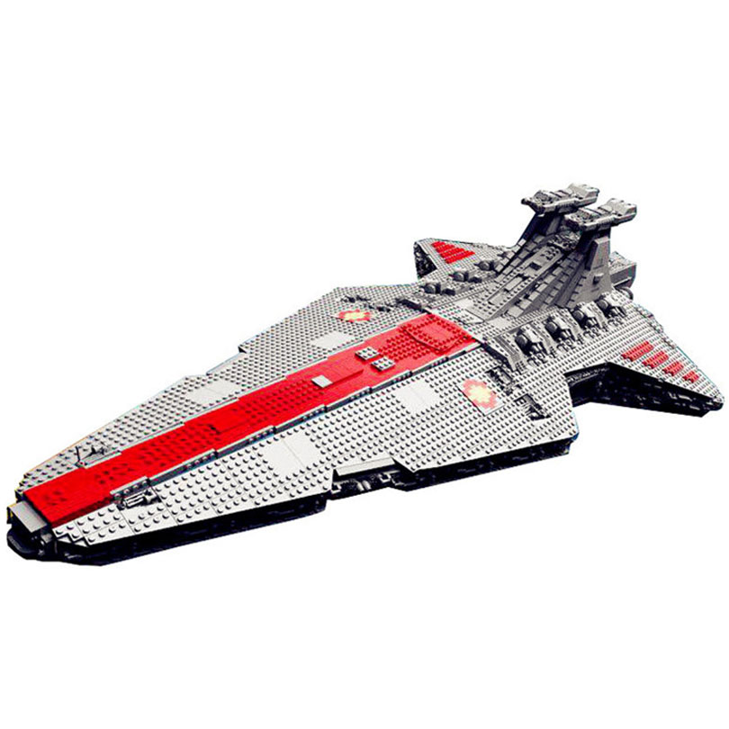 Lepin 05077 6125Pcs The UCS Rupblic Star Destroyer Cruiser ST04 Set Building Blocks Bricks Toys Kids Gift black pearl building blocks kaizi ky87010 pirates of the caribbean ship self locking bricks assembling toys 1184pcs set gift