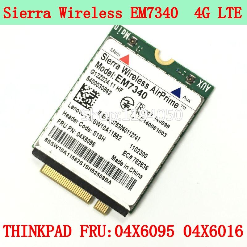 Sierra AirPrime EM7340 4G LTE Card Thinkpad FRU 04X6095 Module 4g LTE/HSPA + telit ln930 dw5810e m 2 twh3n ngff 4g lte dc hspa wwan wireless network card for venue 11