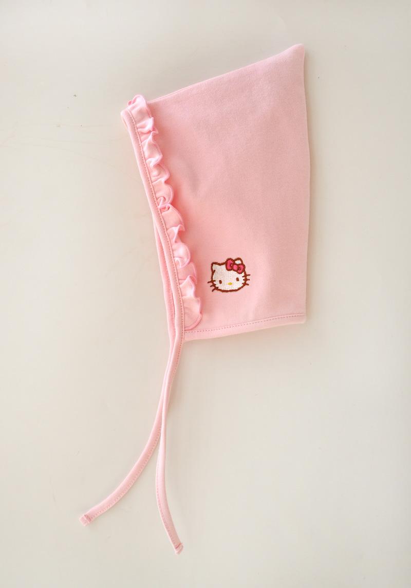 HTB1ULsOJFXXXXbZXpXXq6xXFXXXz - 2 Pcs Newborn Girl Organic Cotton Hello Kitty Romper Set Baby Cute Pink Jumpsuit with Hat New Born Ruffled Collar Bowknot Outfit