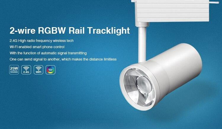 ФОТО Mi light AC110V/220V LED Track Light 25W 2-wire RGBW Rail Tracklight Spotlight Clothing Shoe Shop Indoor Lighting Fast shipping