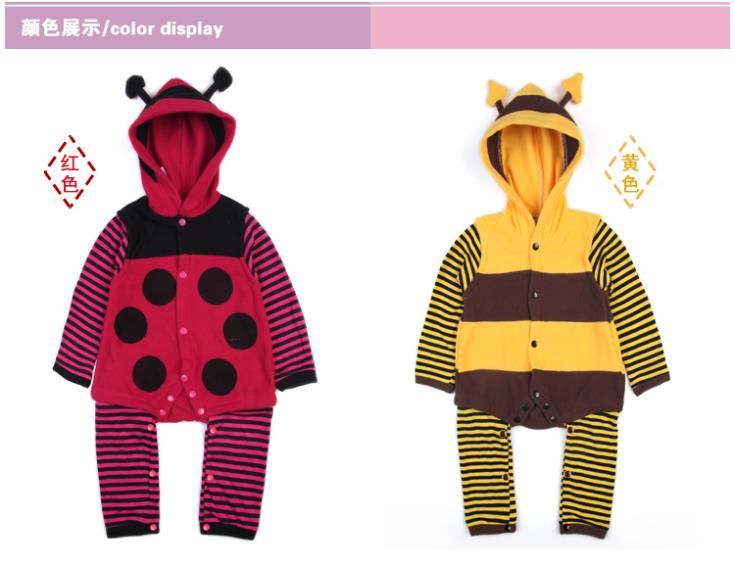 a5265d900 Polka Dot Baby outfits Newborn rompers Hooded Girls body suits ...