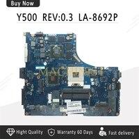 Y500 материнская плата для Lenovo ideapad Y500 Материнская плата ноутбука QIQY6 LA 8692P GT650M HM77 DDR3 тестирование