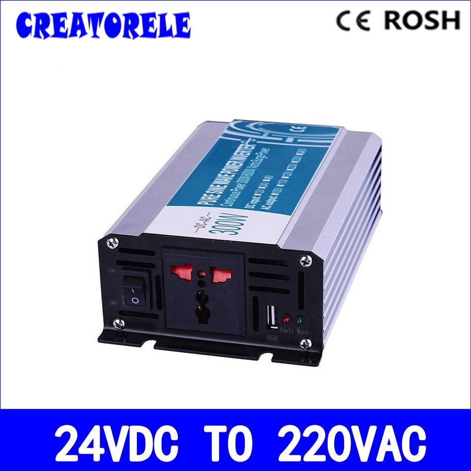 ФОТО off grid pure sine wave inverter 300w 24v to 220v power inverter voltage converter solar inverter P300-242