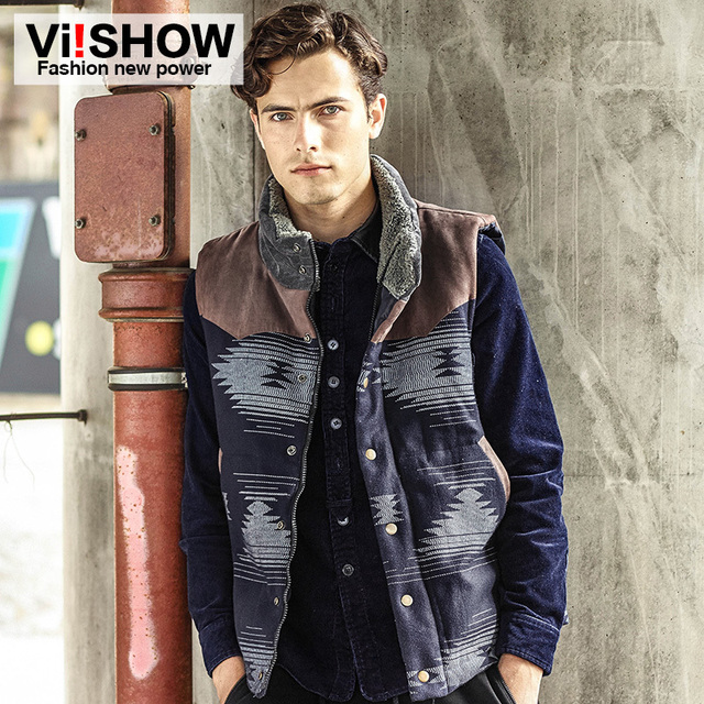 New 2016 Fashion Male Winter Thickening Thermal Outside Streetwear Cotton Outerwear & Coats Man Casual Vests BC05944