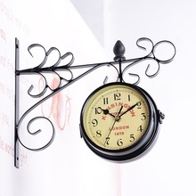 Asypets Double Side Wall Mount Clock With Mute Movement
