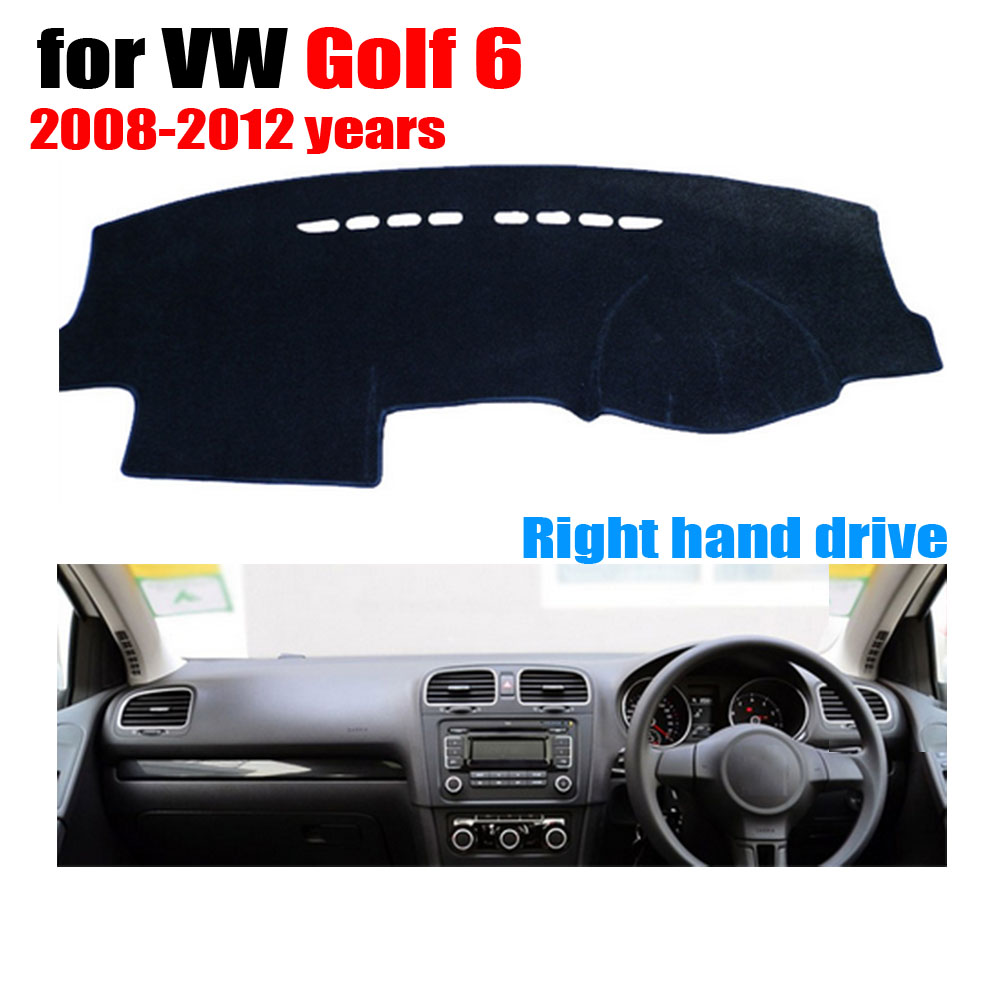 FUWAYDA Car dashboard covers mat for Volkswagen VW GOLF 6 /GTI 2008-2012 Right hand drive dashmat pad dash cover dashboard