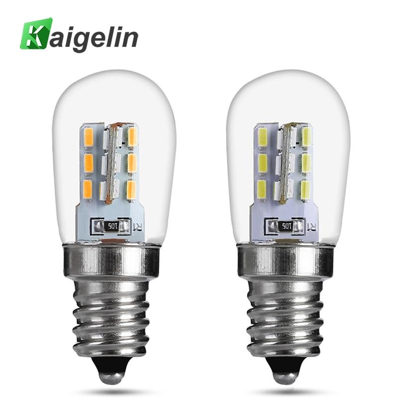 Kiagelin LED E12 220v Refrigerator Light Bulb SMD 3014 Home LED Bulbs Glass Shade Lamp Pure Warm White Lighting