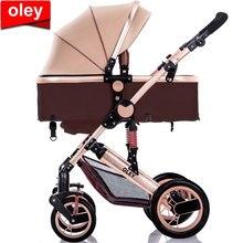 9c68b4c29 Carrinho de bebê de Alta Paisagem Carrinho de Bebê Pode Se Sentar Em das  Crianças carrinho de Bebê de Carro Do Bebê Portátil Dob.