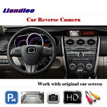 Liandlee Auto Reverse Rear Camera For Mazda CX-7 CX7 2007~2013 / HD CCD Back Parking Camera Work with Car Factory Screen for mazda cx 5 cx 5 cx5 2012 2017 ccd night vision intelligent car parking camera with tracks module rear camera