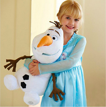 50cm Soft cotton OLAF Snowman Plush Doll cartoon Movie Lovely Stuffed Princess Elsa Anna Kristoff Trolls Milu baby kids Toy Gift