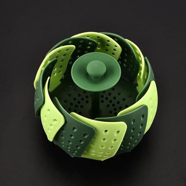 JINJIAN Multi-functionele Bloem Vormige Plastic Pot Zeef Rijst Fruit Groente Wassen Colanders Keuken Gadgets Accessoires