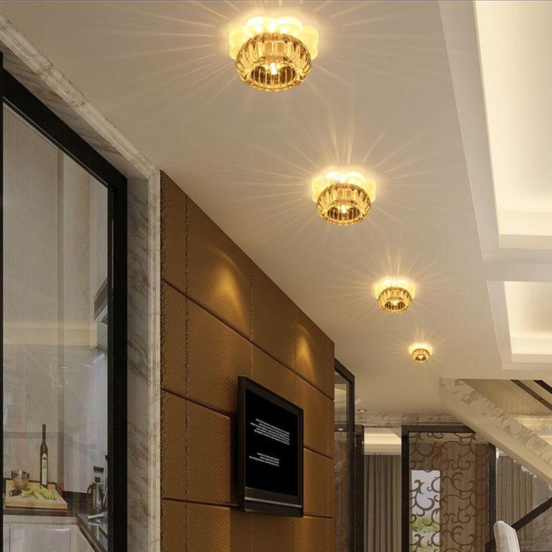 LAIMAIK AC90-260V 6W Modern LED Ceiling light Crystal lamps Veranda aisle corridor balcony lighting Acrylic crystal Ceiling lamp все цены