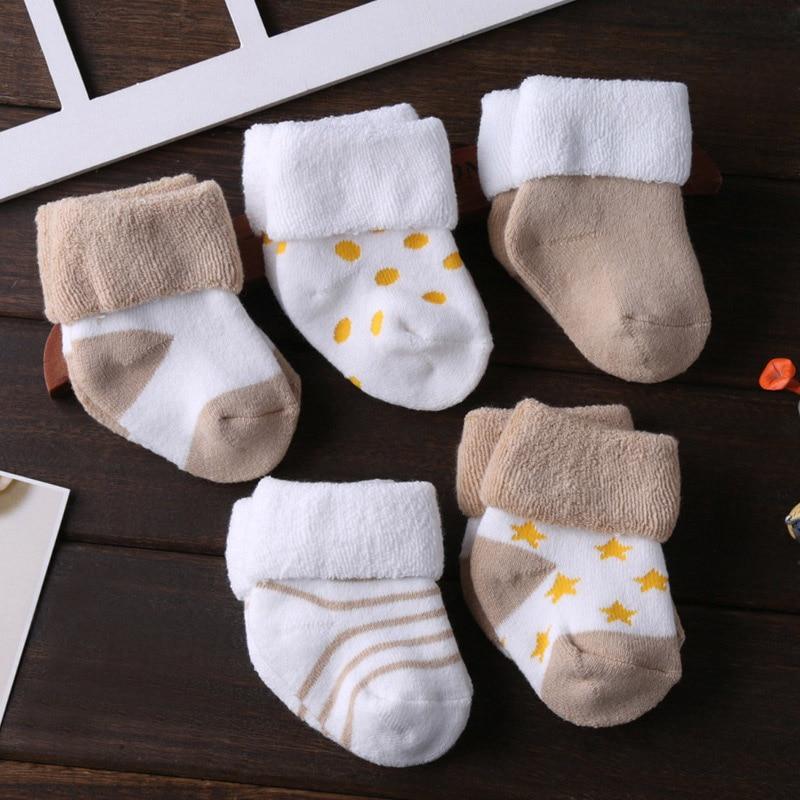 5/6 пара/лот; ; нескользящие носки для малышей; носки для девочек; для мальчиков; 0-12 месяцев - Цвет: SK5006