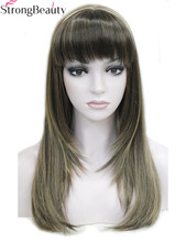 Strong Beauty Synthetic Wigs Long Straight Womens Heat Registant Capless Hair Many Color