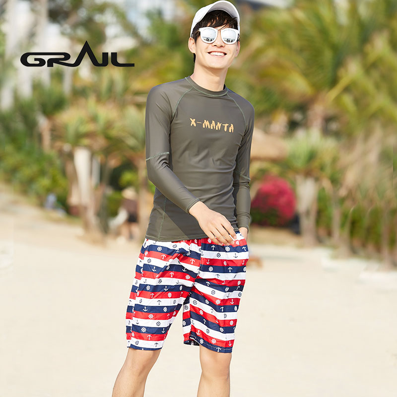 GRAIL Couple Suit Swimwear Surf Boarding Wetsuit Men Surf Diving long sleeved beach sports Sun Protection swim suit LS-18658 extreme sports surf